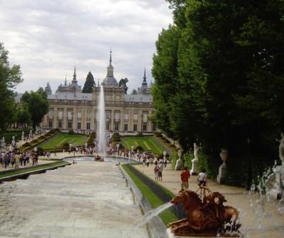 La Granja. Segovia. En familia
