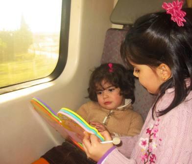 Tren con niños