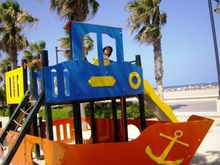 PLaya Valencia con niños