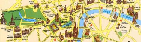 mapa turístico londres familia
