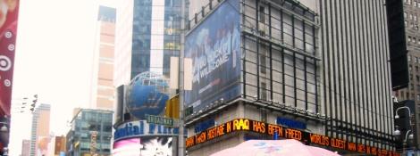 Nueva York Times Square con niños
