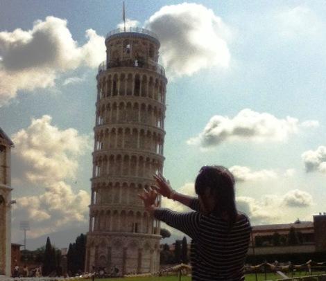 Cuatro a bordo Pisa Italia