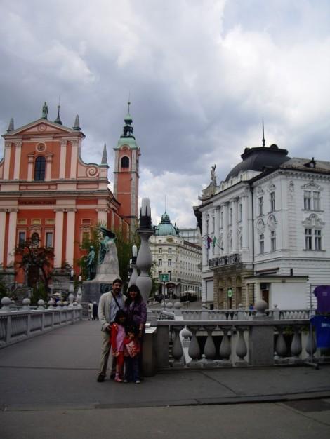 Los Cuatroabordo en la capital de Eslovenia, Liubliana, una escapada de libro.