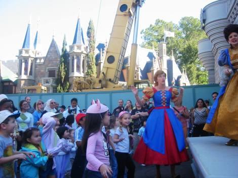 A bailar en los aledaños del Palacio en DisneyWorld Estados Unidos