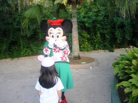 Abrazar a Minnie fue una de las prinicales expectativas de la escapada a Orlando y...sueño cumplido
